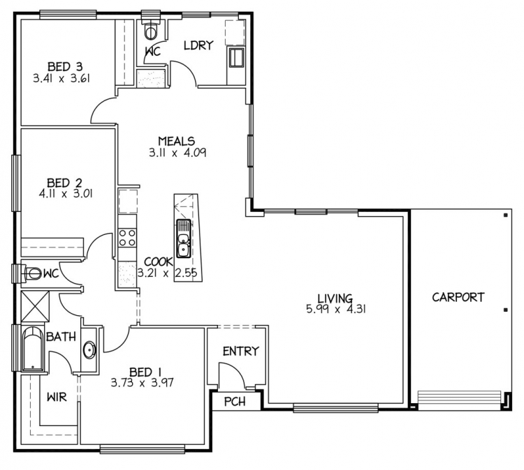 Rossdale Homes Aldinga Floor plan