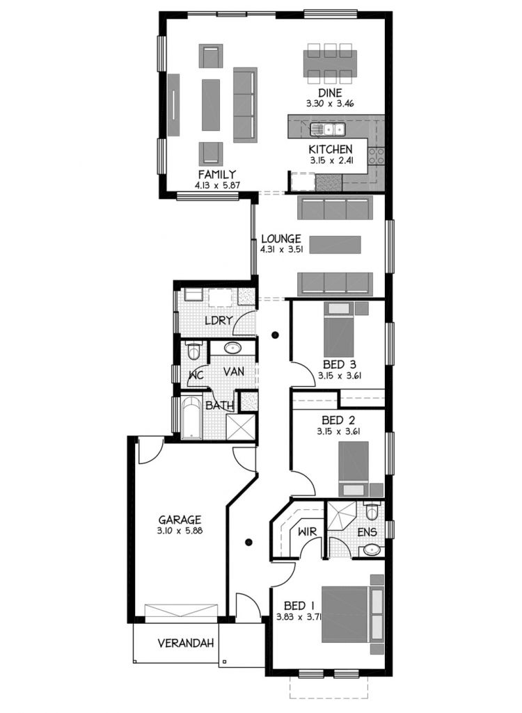 Rossdale Homes Ashbourne Floor plan