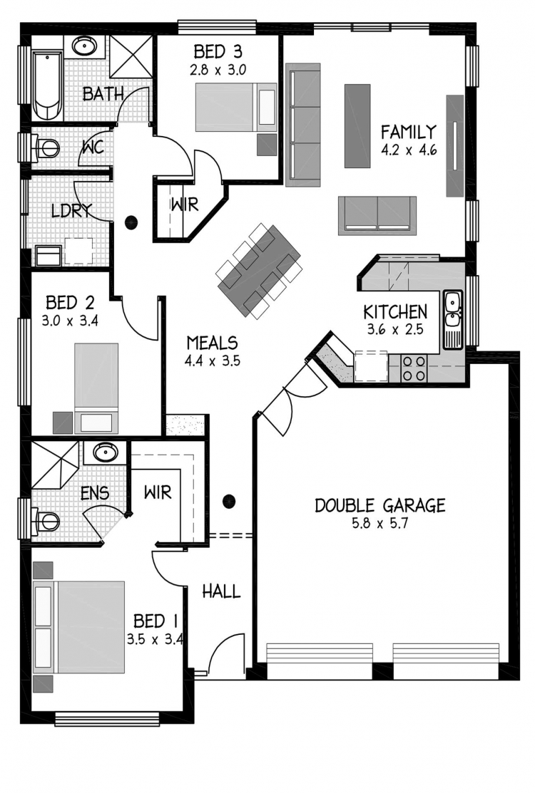 Rossdale Homes Bolero Floor plan