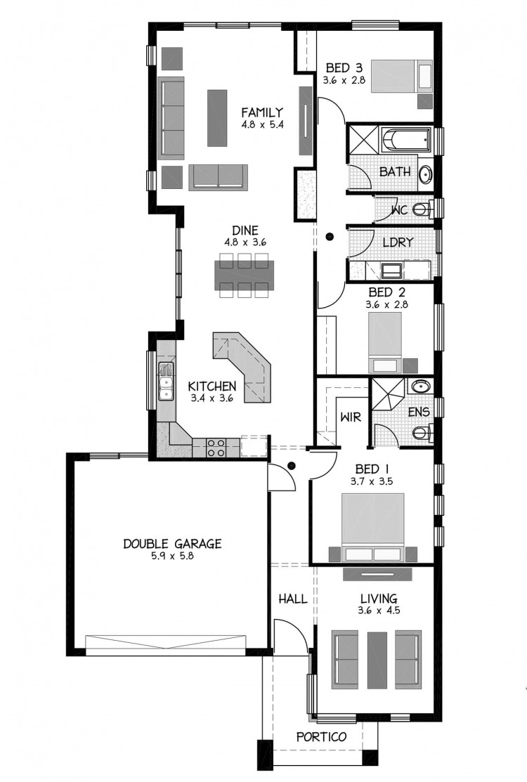 Rossdale Homes Cheltenham Floor plan