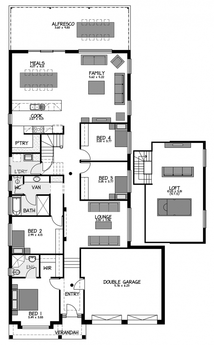 Rossdale Homes Dulwich Loft Floor plan