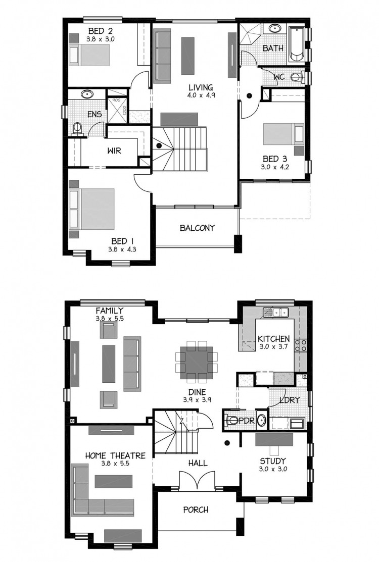 Rossdale Homes Fulham Floor plan