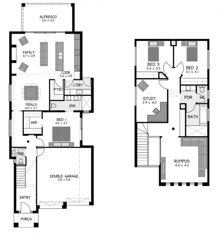 Rossdale Homes Holdfast Floor plans