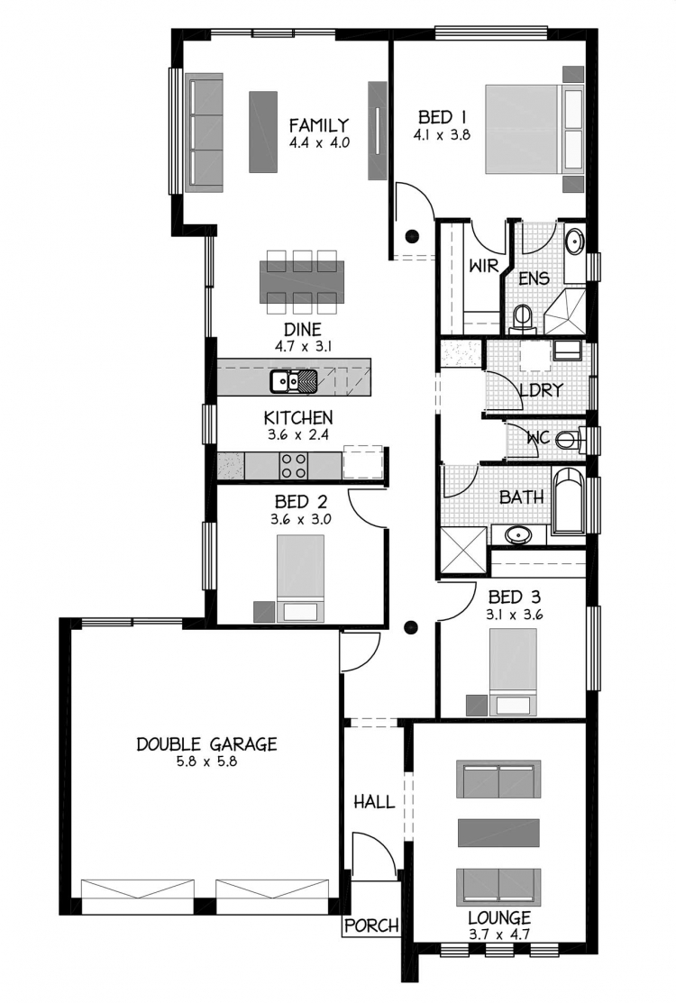 Rossdale Homes Kyton Floor plan