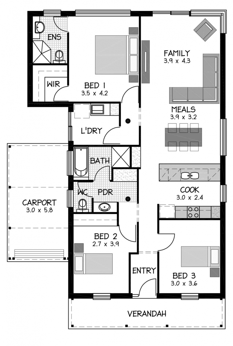 Rossdale Homes Magil Floor plan