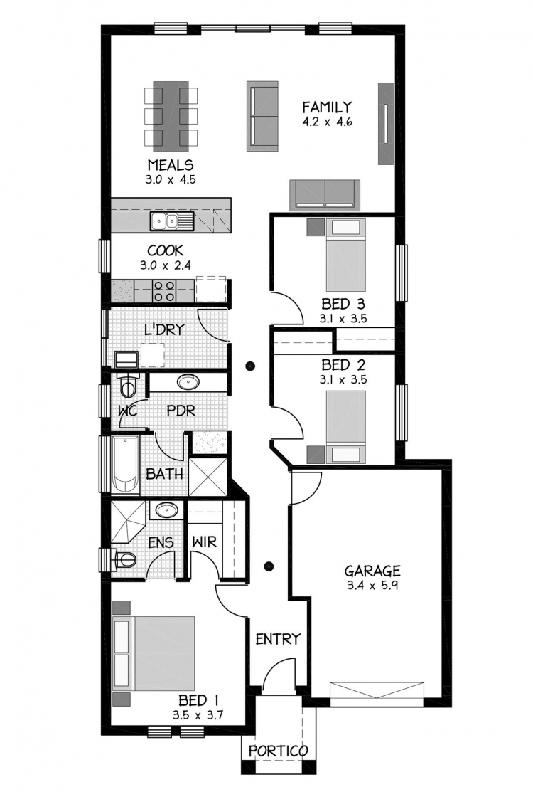 Rossdale Homes Marden Floor plan