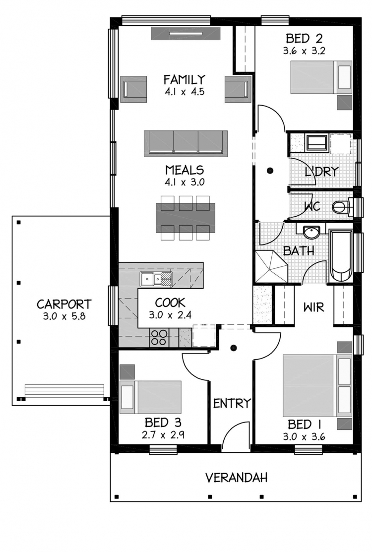Rossdale Homes Norwood Floor plan