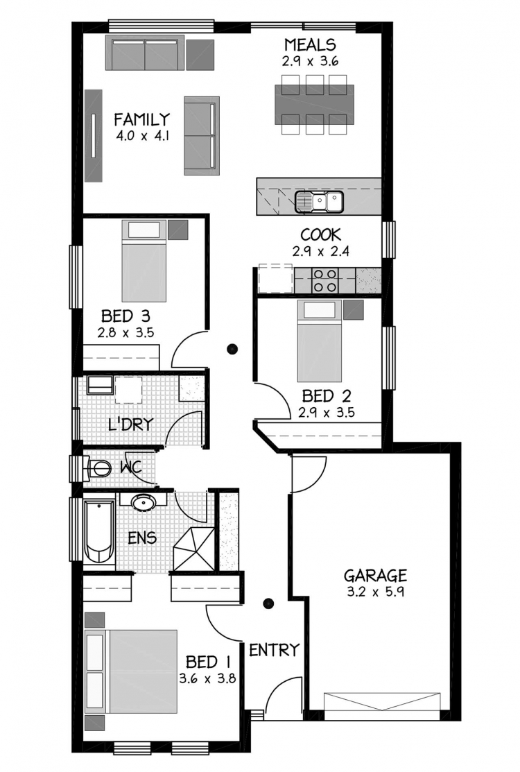 Rossdale Homes Oakden Floor plan