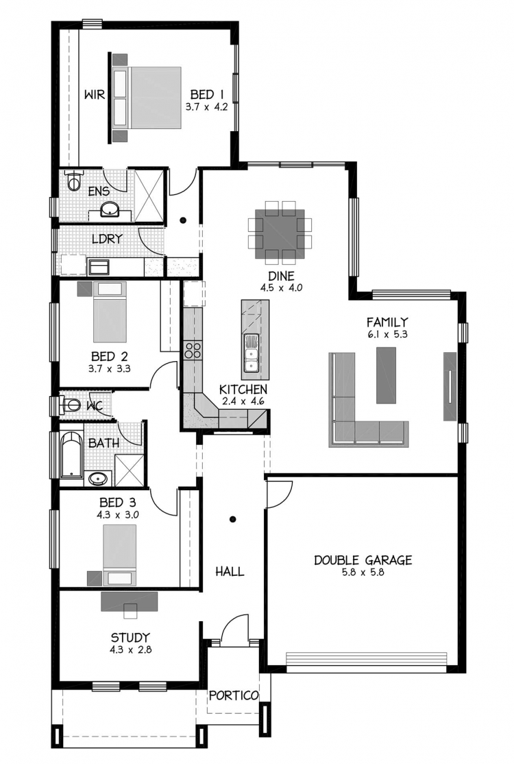 Rossdale Homes Playford Floor plan