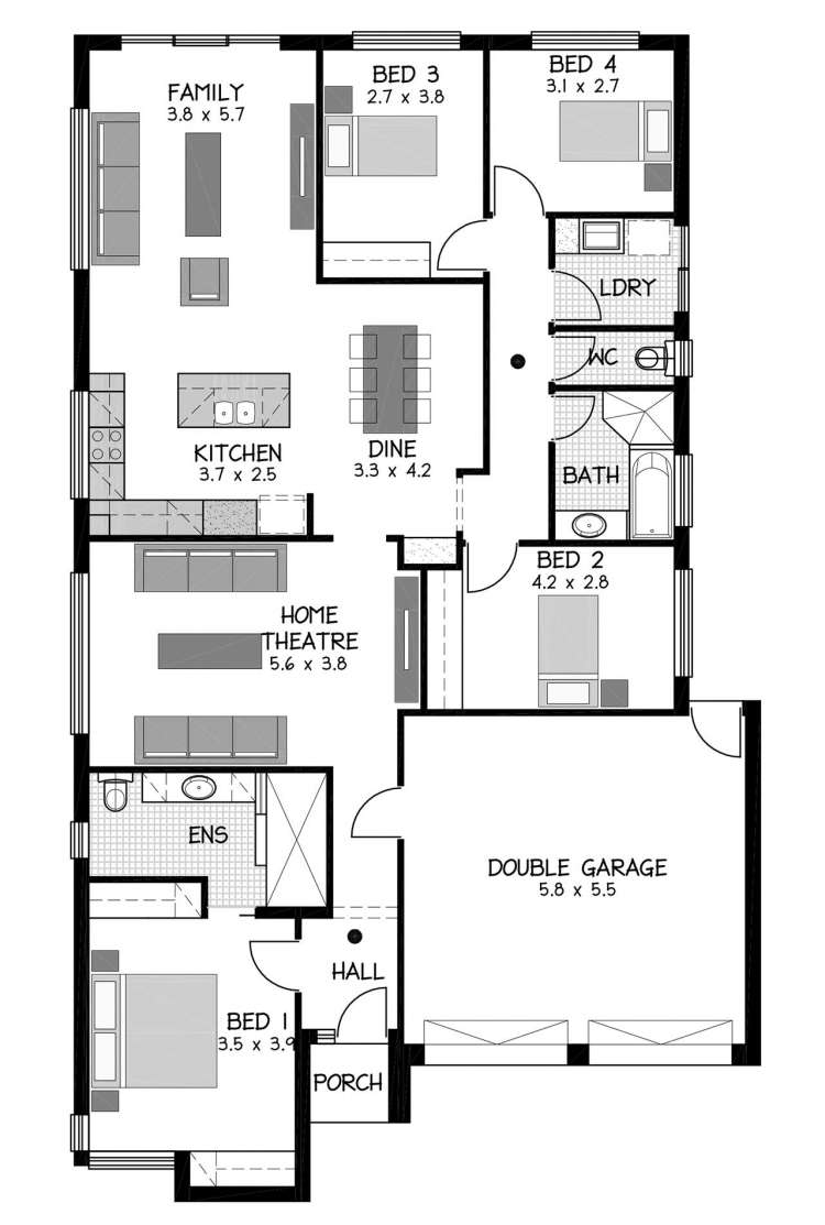 Rossdale Homes Seacombe Floor plan