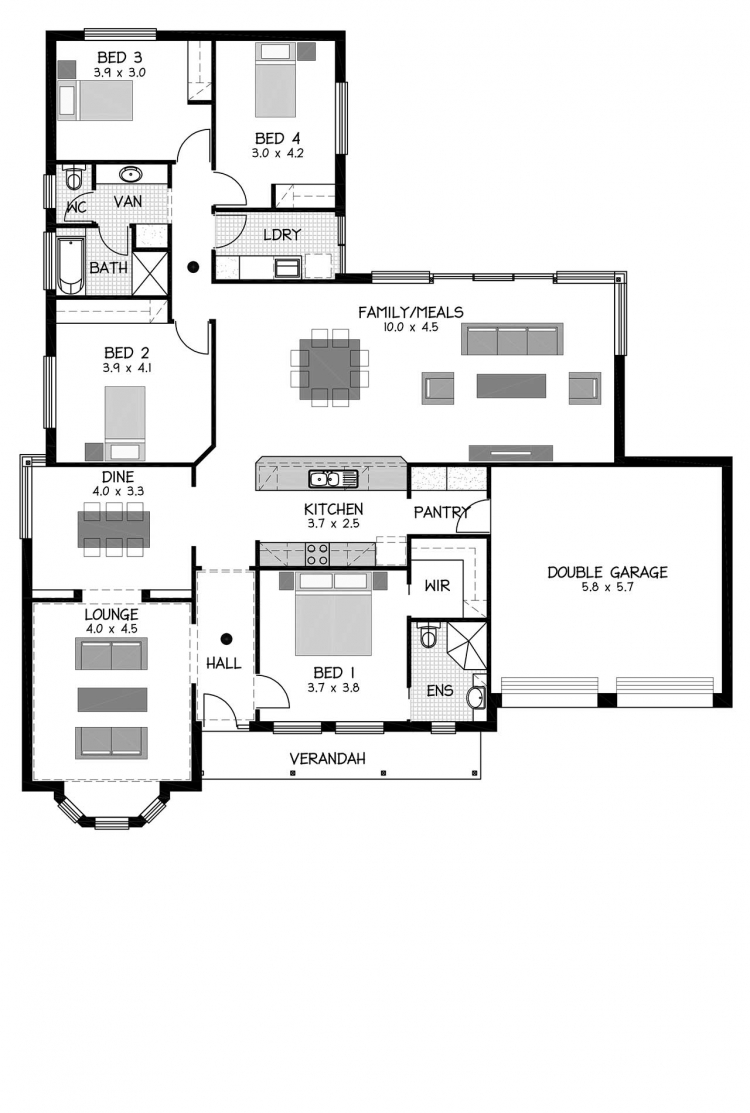 Rossdale Homes Springfield Floor plan