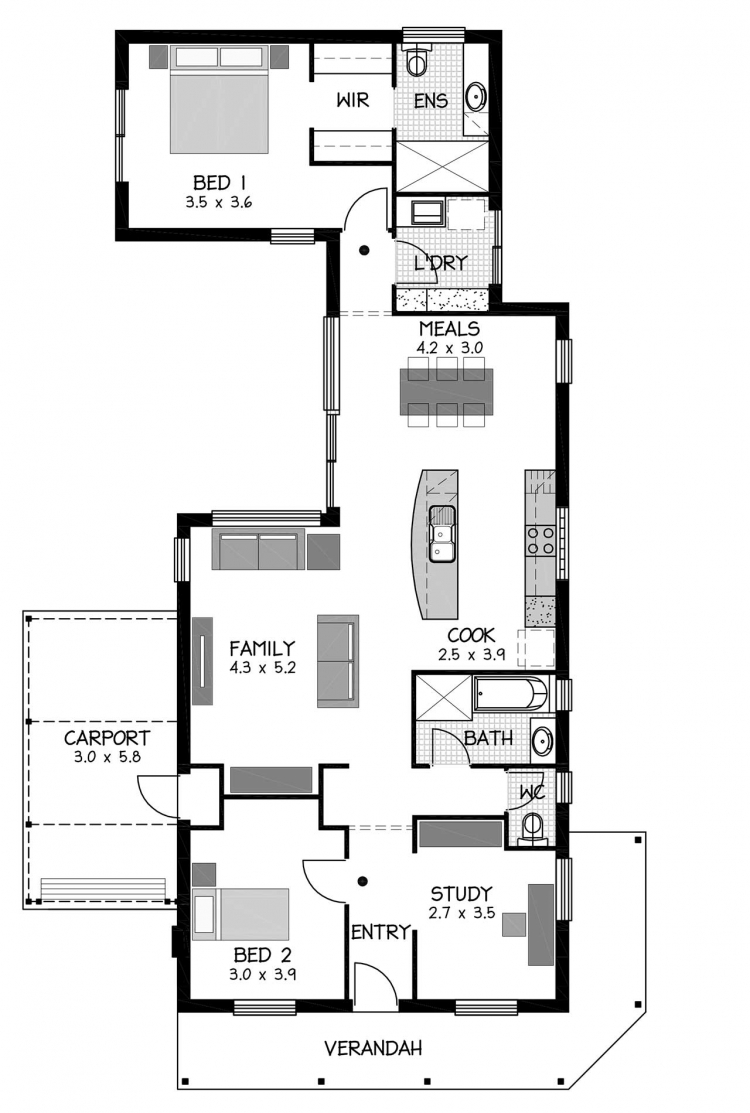 Rossdale Homes Sturt Cottage Floor plan