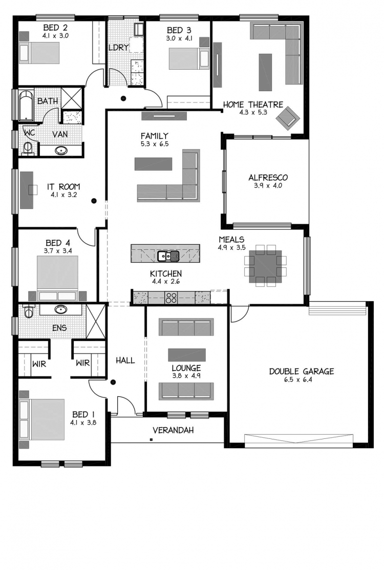 Rossdale Homes Wistow Floor plan