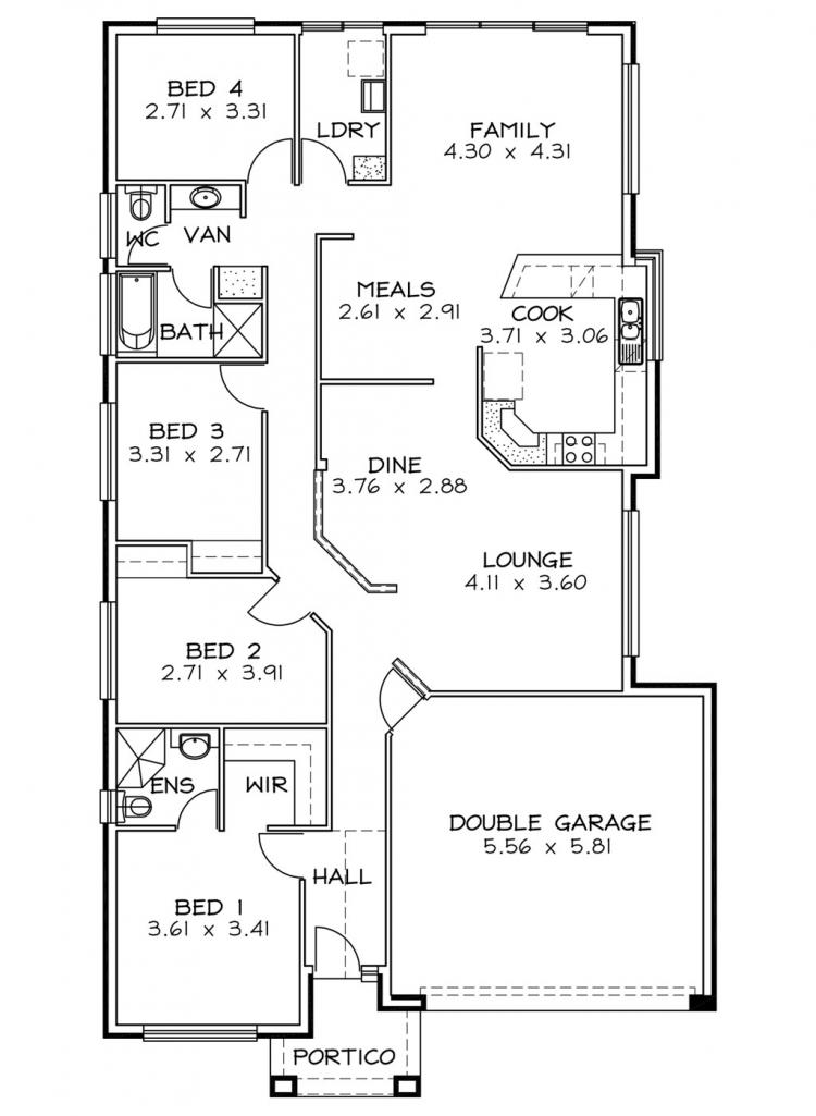 Rossdale Homes Tuscany Floor plan