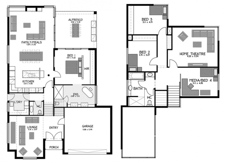 Rossdale Homes Beaumont Floor plan