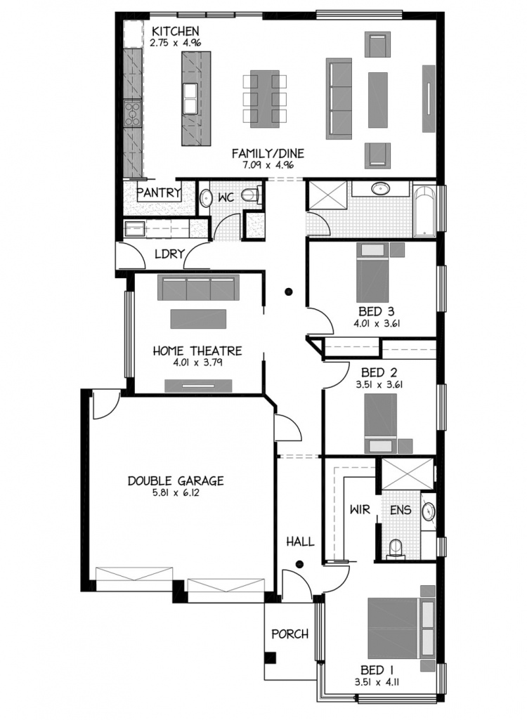 Rossdale Homes Brighton Floor plan