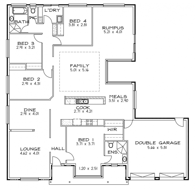 Rossdale Homes Highgate Floor plan
