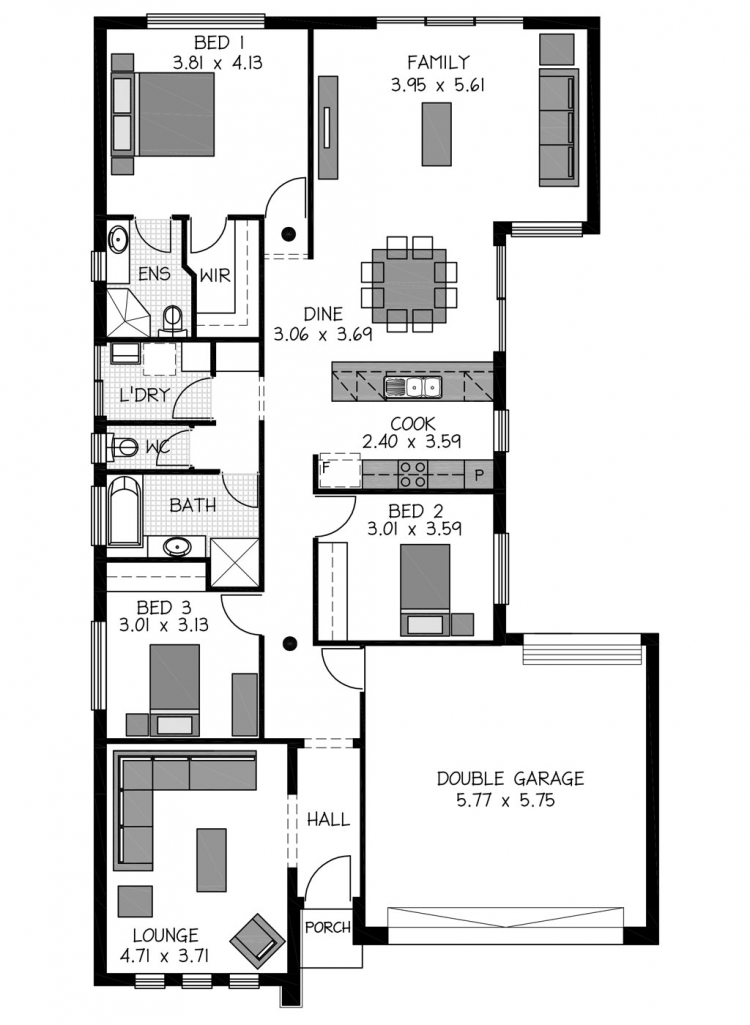 Rossdale Homes Kyton 152 Floor plan