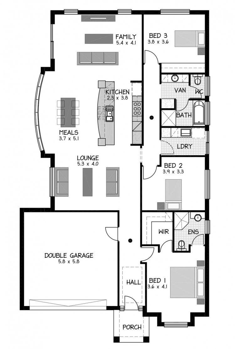 Rossdale Homes Leabrook Floor plan