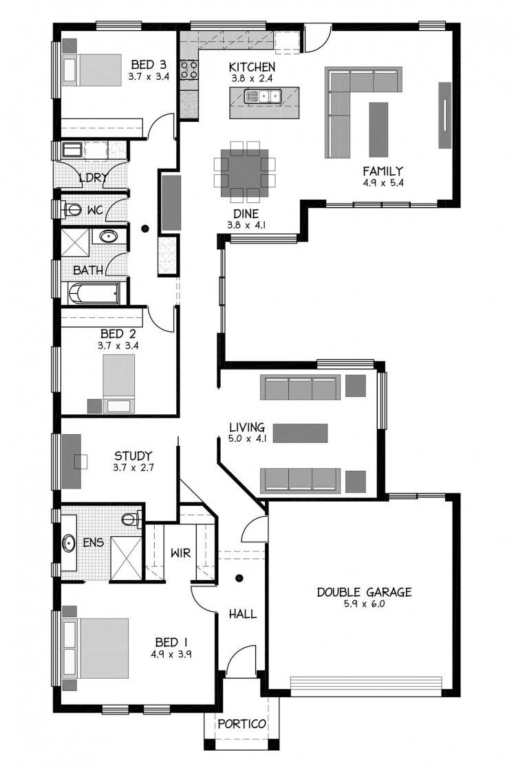 Rossdale Homes Millsbrook Floor plan