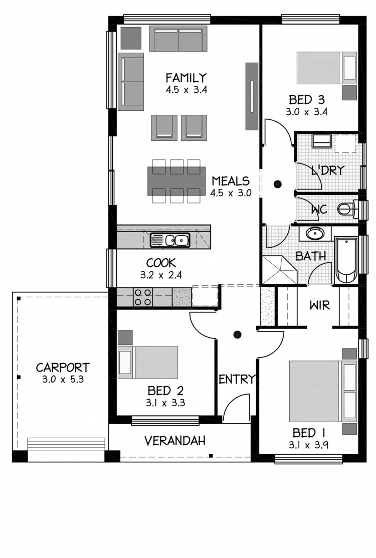 Rossdale Homes Regency Floor plan