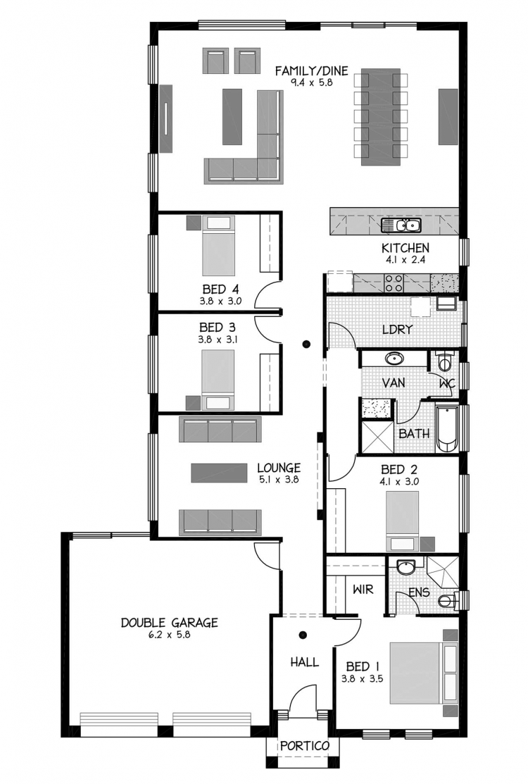 Rossdale Homes St Morris Floor plan