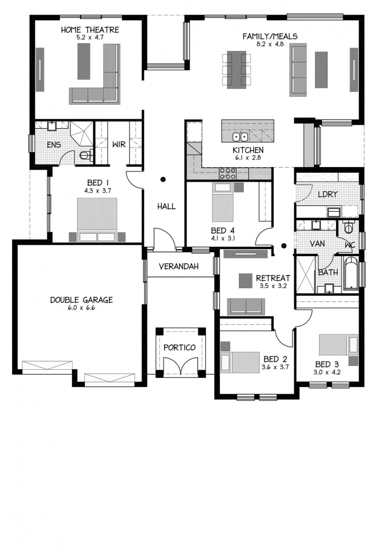 Rossdale Homes Valencia Floor plan
