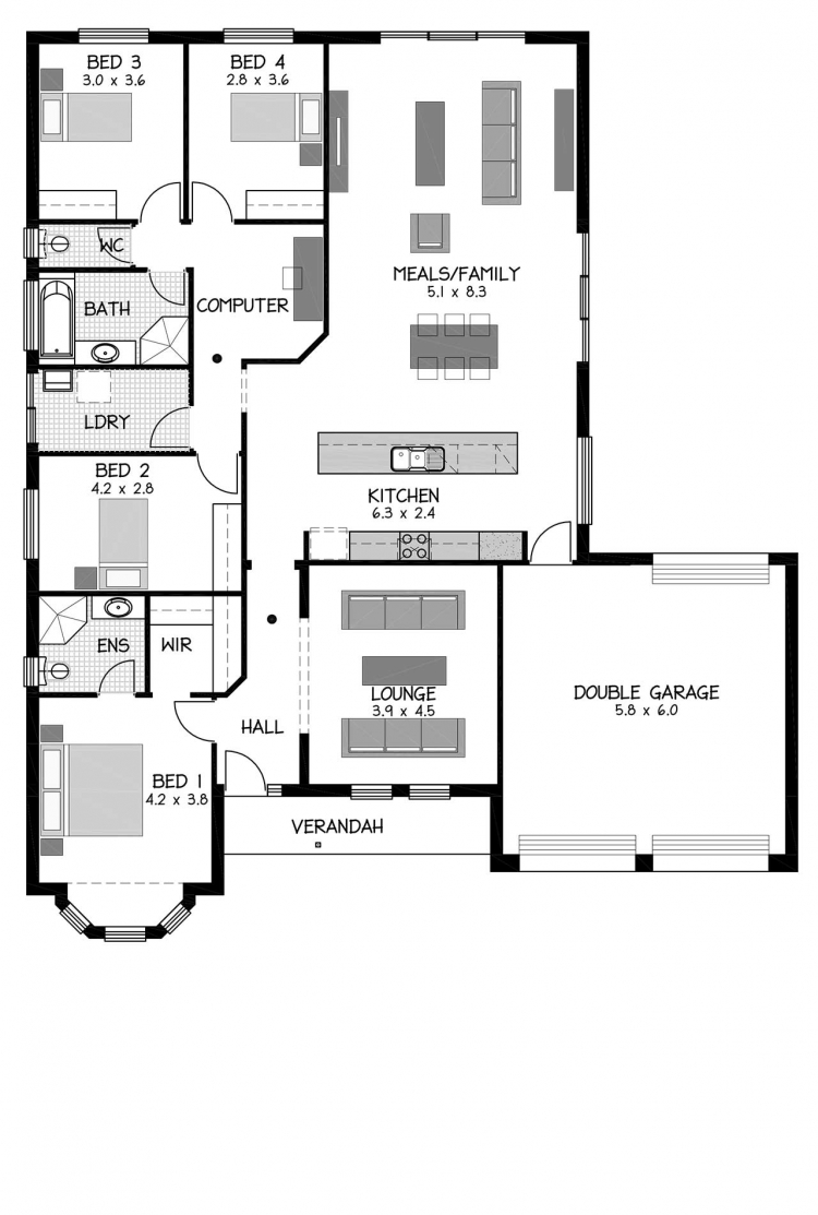 Rossdale Homes Verdun Floor plan