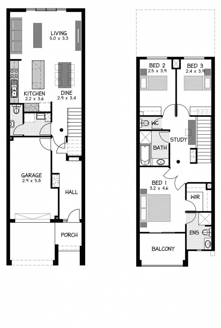 Rossdale Homes Wakefield RHS MB Floor plan