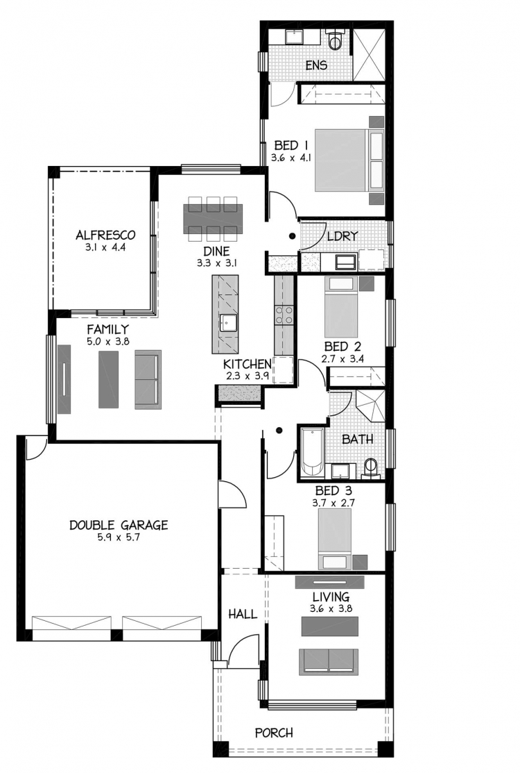 Rossdale Homes Windsor Floor plan