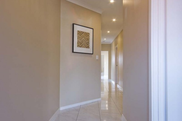 Ashbourne hallway tiles single storey custom villa