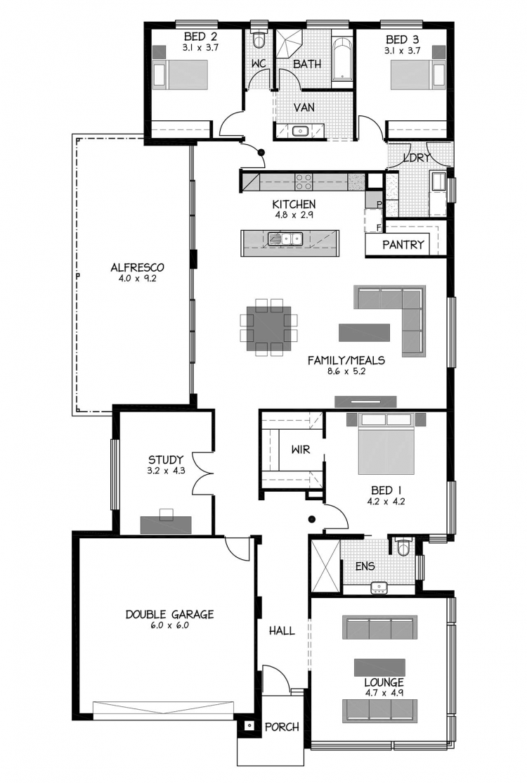 Rossdale Homes Sanur Floor plan