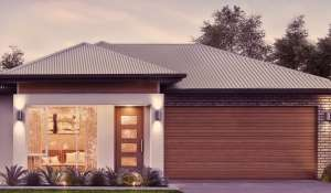 Double garage modern facade option Type 2