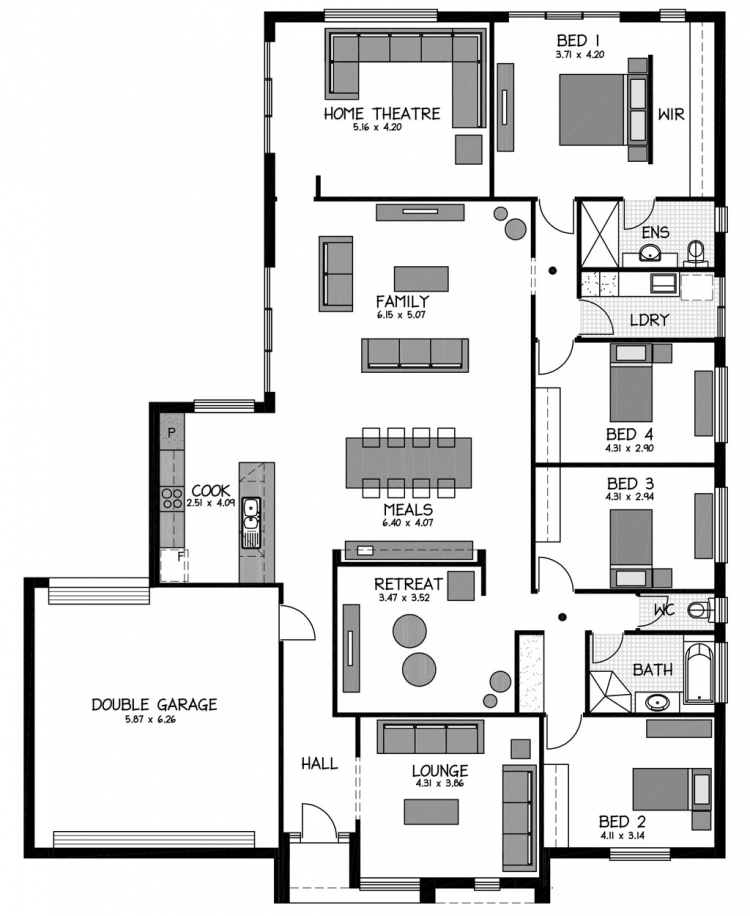 Rossdale Homes Franklin Floor plan
