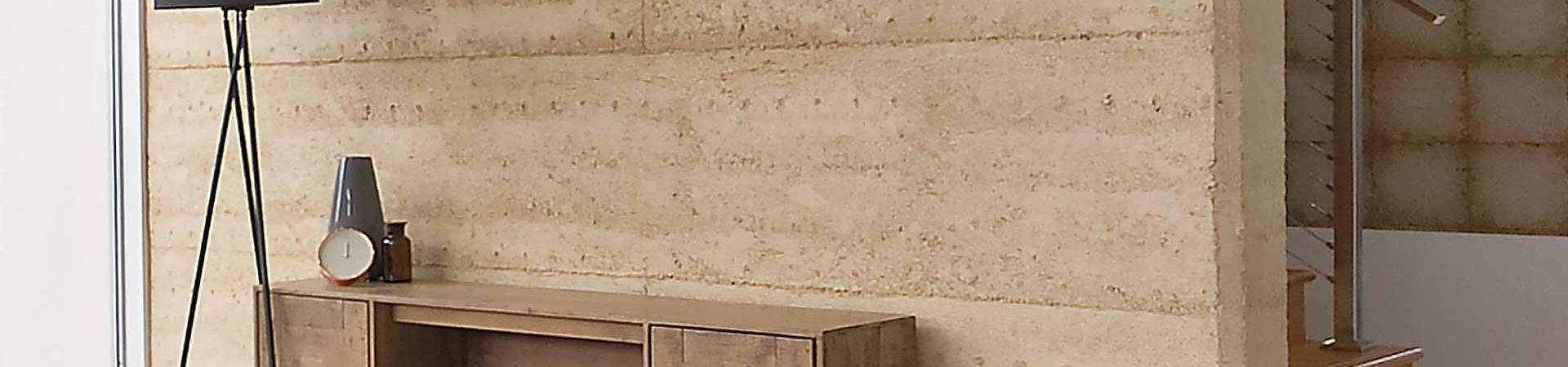 Rossdale Homes Eden Rammed Earth Wall